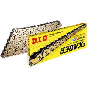Gold 530VX3 Professional X-Ring Series Chain - 530VX3GX110ZB