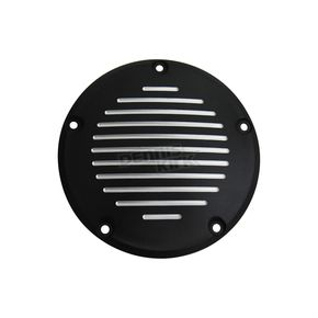 Black Grooved 5-Hole Derby Cover - 42-1140