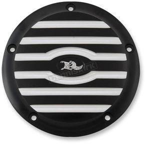 Ken's Factory Black Machine Ribbed 5-Hole Derby Cover - 8-921
