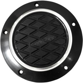 Thunder Cycle Black Anodized Reverse Cut Slim Derby Cover - TC-028B