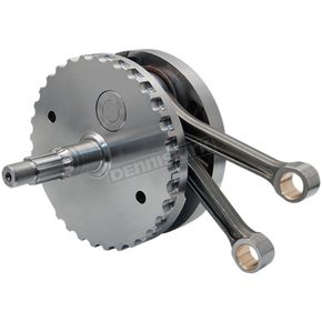 S&S Cycle 4 5/8 in. Stroke Flywheel Assembly w/o Sprocket Shaft Bearing Race For S&S 124