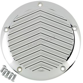 Chrome 5-Hole V Fin Derby Cover - 06-960-4C