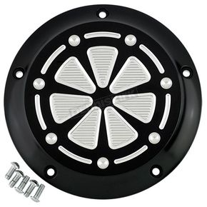 Joker Machine Black/Silver 5-Hole Techno Derby Cover - 06-960-5BS