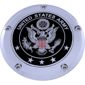 Black/Chrome US Army Seal Derby Cover - ARM02-12