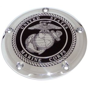 Black/Chrome Marine Seal Derby Cover - MAR05-12