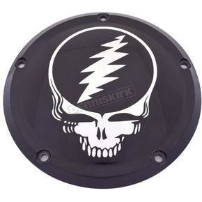 Black Grateful Dead Steal Your Face Low Profile Derby Cover - GD01-46BG