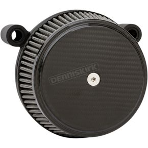 Black Big Sucker Stage 1 Knuckle Air Filter Kit w/Standard Air Filter & Billet Cover - 18-394