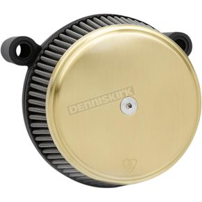Black Big Sucker Stage 1 Knuckle Air Filter Kit w/Standard Air Filter & Brass Cover - 18-395