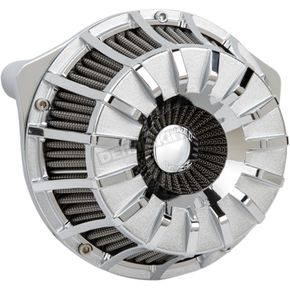 Chrome 15-Spoke Inverted Series Air Cleaner Kit - 18-996