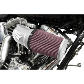 Satin Silver RK-Series Aircharger Intake System - 57-1137S