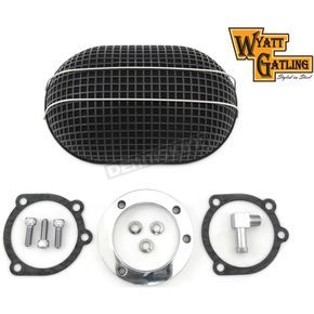 Black Oval Mesh Air Cleaner Kit - 34-0764