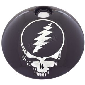 Black Grateful Dead Steal Your Face Fuel Door Cover - GD01-13BG