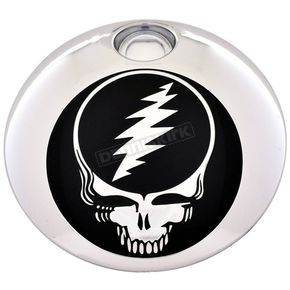 Chrome/Black Grateful Dead Steal Your Face Fuel Door Cover - GD01-13BC