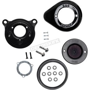 Gloss Black Air Stinger Stealth Air Cleaner Kit w/Teardrop Cover - 170-0720