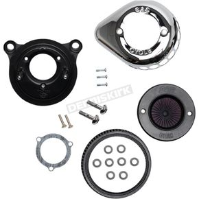 Chrome Air Stinger Stealth Air Cleaner Kit w/Teardrop Cover - 170-0719
