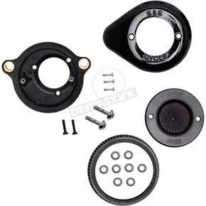 Gloss Black Air Stinger Stealth Air Cleaner Kit w/Teardrop Cover - 170-0718