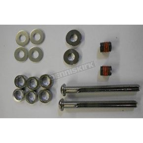 Custom Cycle Engineering Buttonhead 3 1/4 in. Cut-To Length Chrome Breather Bolt Kit -Fits 1/2 in.-13 using 3/8 in. Bolt Insert - DM-5800K
