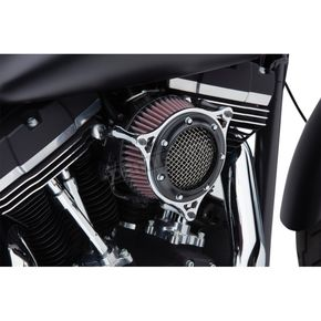 Cobra Black Ring w/Chrome Frame RPT Air Intake - 606-0102-05BC