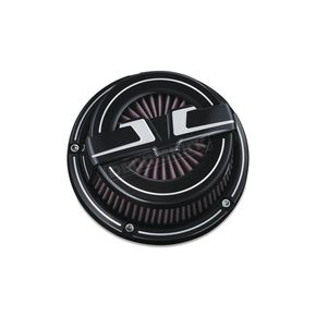 Bahn Black Aluminum Tuxedo ECE Compliant Air Cleaner Kit - 9651
