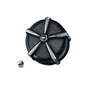 Kuryakyn Black/Chrome ECE Compliant Mach 2 Air Cleaner - 9659