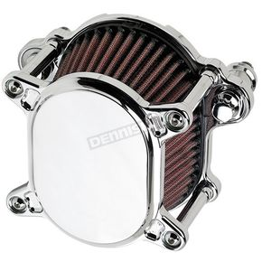 Joker Machine Chrome Smooth Omega Air Cleaner - 02-167-3