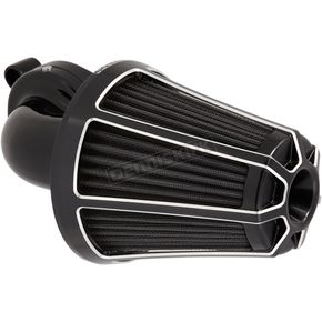 Black Monster Sucker Beveled Air Cleaner Kit w/Cover - 81-036