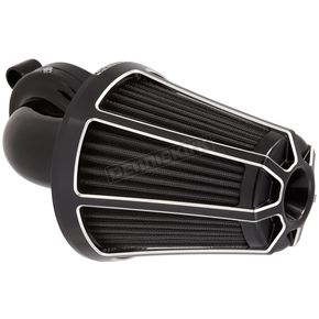 Arlen Ness Black Beveled Monster Sucker Air Cleaner Kit w/Cover - 81-013