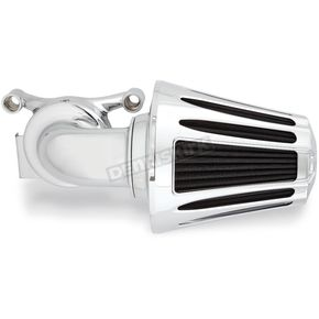Arlen Ness Chrome Deep Cut Monster Sucker Air Cleaner Kit w/Cover - 81-019