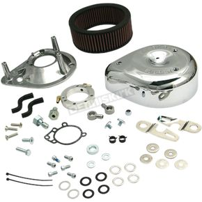S&S Cycle Chrome Teardrop Air Cleaner Kit - 170-0306B