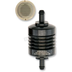 Black 5/16 in. Peak Flow Mini Fuel Filter - 60-312C-BLACK