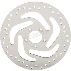 Drag Specialties Front Polished 11.8 in. Stainless Steel Drilled Front Left  Brake Rotor - 1710-3048