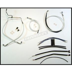 Magnum Sterling Chromite II Designer Series Handlebar Installation Kit for use w/12 in.-14 in. Ape Hangers w/ABS - 387551