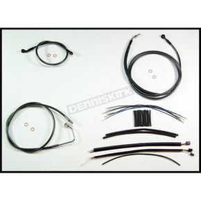 Magnum Black Pearl Designer Series Handlebar Installation Kit for use w/15 in.-17 in. Ape Hangers w/ABS - 487562