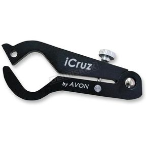 Avon Grips Black Anodized Large Icruz Throttle Lock - ICZ-LG-ANO