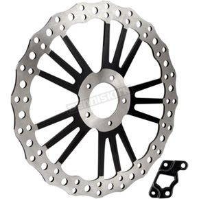 14 in. Black/Chrome Front Offset Rotor - I-1180