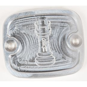 Rooke Customs Raw Front Master Cylinder Cover - R-C122-TA