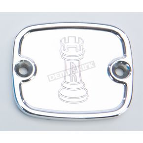 Rooke Customs Polished Front Master Cylinder Cover - R-C122-TP
