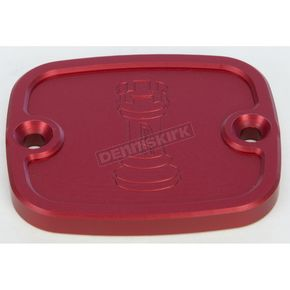 Rooke Customs Red Front Master Cylinder Cover - R-C122-T7