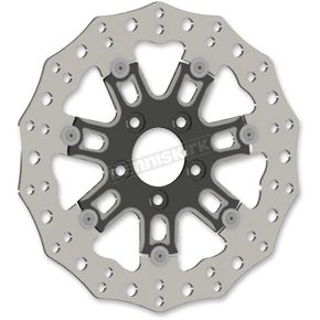 Black Front 11.8 in. 7 ValveTwo-Piece Floating Brake Rotor - 33-10301-202