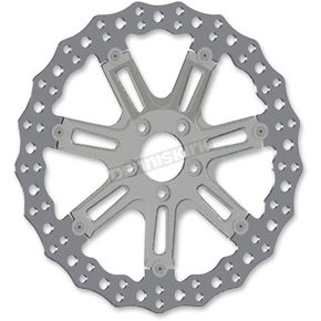 Arlen Ness Chrome Front 14 in. 7 Valve Two-Piece Floating Brake Rotor - 33-10302-203