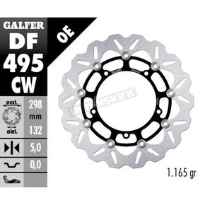 Front Aluminium Floating Wave Rotor w/Holes - DF495CW