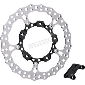 Black Anodized Big Brake Full Floating Left Rotor Kit - 300-000