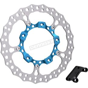 Blue Anodized Big Brake Full Floating Left Rotor Kit - 300-001