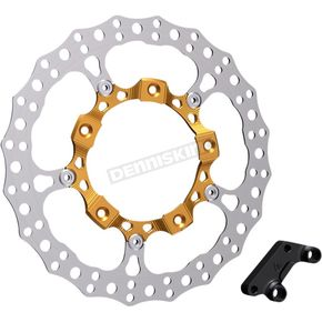 Gold Anodized Big Brake Full Floating Left Rotor Kit - 300-002