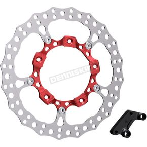 Red Anodized Big Brake Full Floating Left Rotor Kit - 300-003