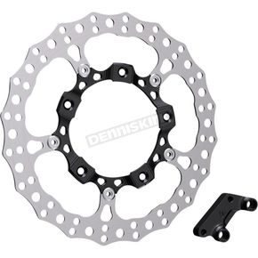 Black Anodized Big Brake Full Floating Right Rotor Kit - 300-004