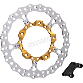 Gold  Anodized Big Brake Full Floating Right Rotor Kit - 300-006