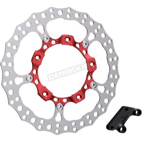 Red Anodized Big Brake Full Floating Right Rotor Kit - 300-007
