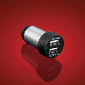 Dual USB Auxiliary Cigarette Lighter Plug - 13-309