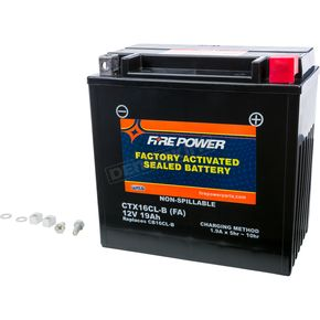 Sealed Factory Activated Battery - CTX16CL-B-BS FA